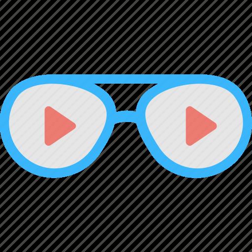 3d glasses, cinema, glasses, media, stereoscopic icon