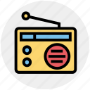multimedia, radio, radio antenna, radio set, technology, transmission icon