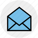 email, envelope, letter, message, open envelope, open letter icon
