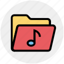 document, file, folder, multimedia, music, note icon