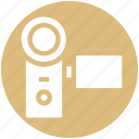 camcorder, camera, dslr, handycam, photography, video camera, video recorder icon