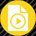 document, film, media, multimedia, paper, player, sheet icon