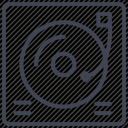 audio, dj, media, multimedia, music, table, turn icon