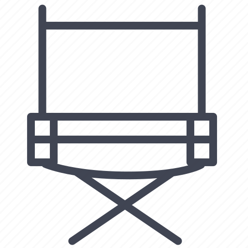 Chair, director, media, multimedia, video icon - Download on Iconfinder