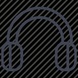 audio, headphone, headset, multimedia, music, sound icon