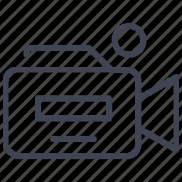 camera, media, movie, multimedia, record, video icon