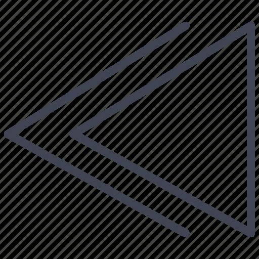 left, media, multimedia, previous, rewind icon