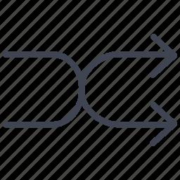 arrow, arrows, multimedia, navigation, shuffle icon