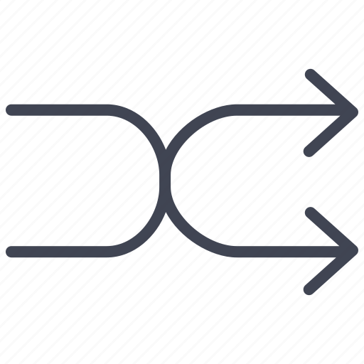 Shuffle, arrow, arrows, multimedia, navigation icon - Download on Iconfinder