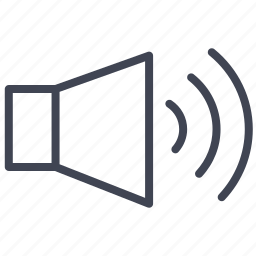 audio, media, sound, speaker, volume icon