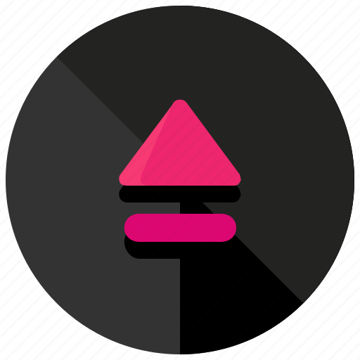 eject, entertainment, media, multimedia, music, video icon