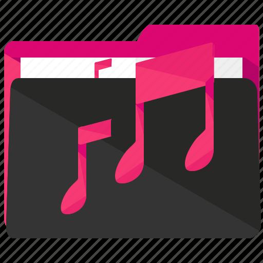 entertainment, folder, media, multimedia, music icon