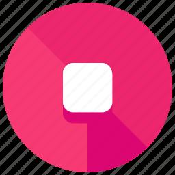 entertainment, media, multimedia, music, stop, video icon