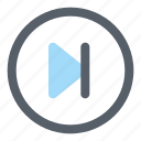 next, arrow, right, direction, multimedia