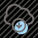 download, arrow, down, direction, multimedia