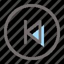 previous, back, arrow, left, multimedia