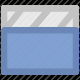 clapboard, clapper, clapper board, multimedia, shooting clapper icon