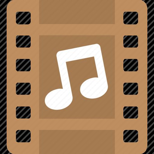 audio, media, music, reel, song icon