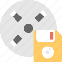 floppy, media, movie, multimedia, reel icon