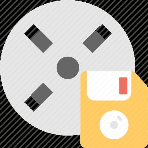 floppy, media, movie, multimedia, reel icon