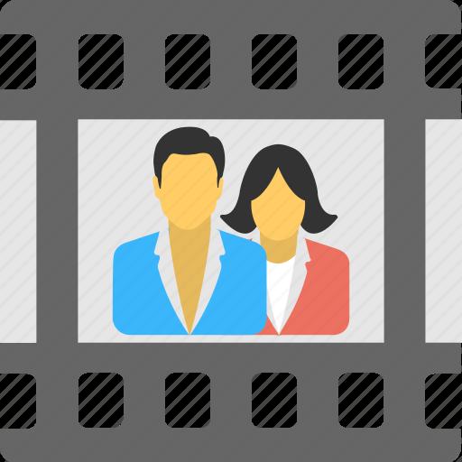 family photo, memories, negatives, photos, portrait icon
