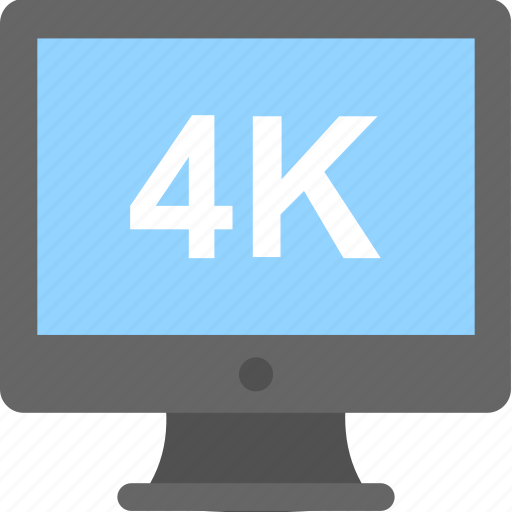 4k, display, monitor, resolution, screen icon