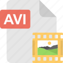 avi, extension, file format, file type, image file icon