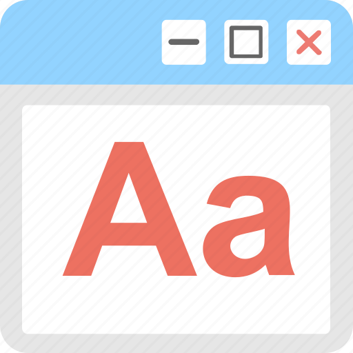 alphabet, font, letter, web, website icon