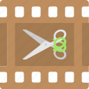 editing, movie, scissor, video, video editing icon
