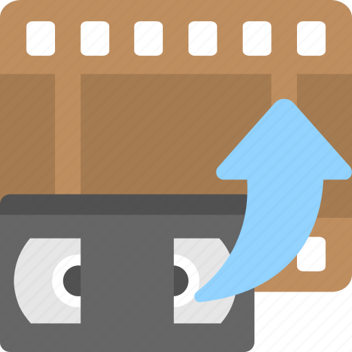 cassette, film, movie, reel, video tape icon
