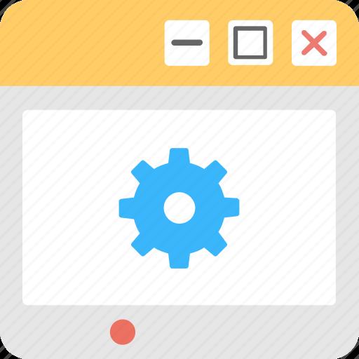 cog, development, preferences, web, web setting icon