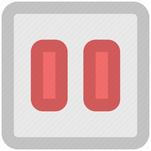media, multimedia, pause, pause button icon