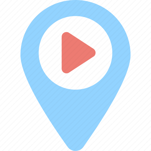 gps, navigation, tracking, video, youtube icon