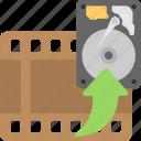 film, hard disk, hdd, reel, storage