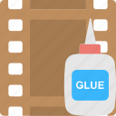 developing, glue, negatives, photography, reel icon
