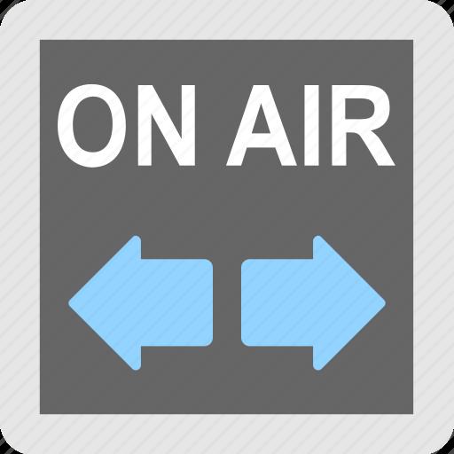 broadcasting, on air, radio, telecast, transmission icon