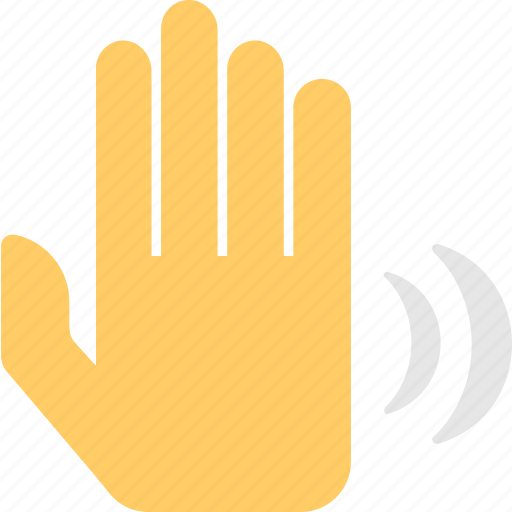 gesture, greeting, hand, hi, wave icon