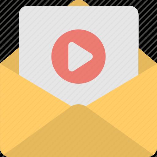 envelope, film, movie, sem, video icon