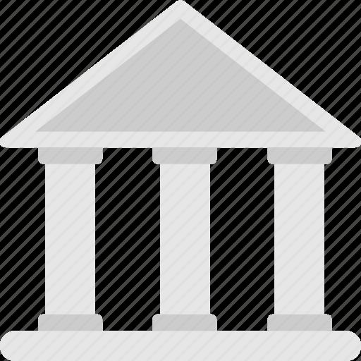architecture, bank, building, college, real estate icon