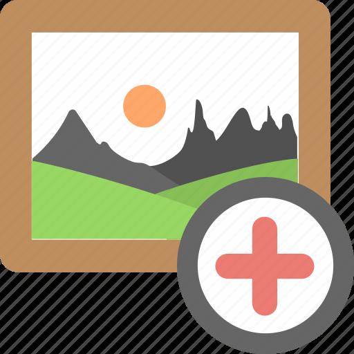 add, add photo, create image, photo, picture icon