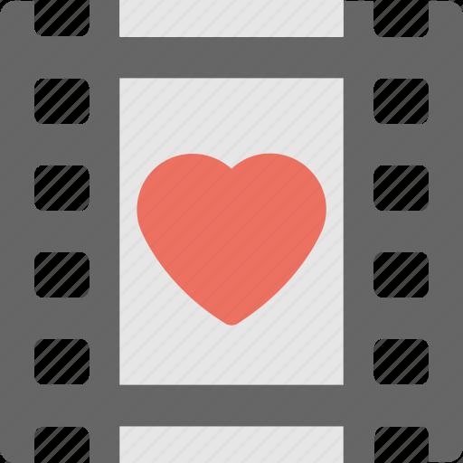 heart, memories, negatives, valentine, wedding photos icon