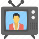 electronics, media, television, tv, tv set icon