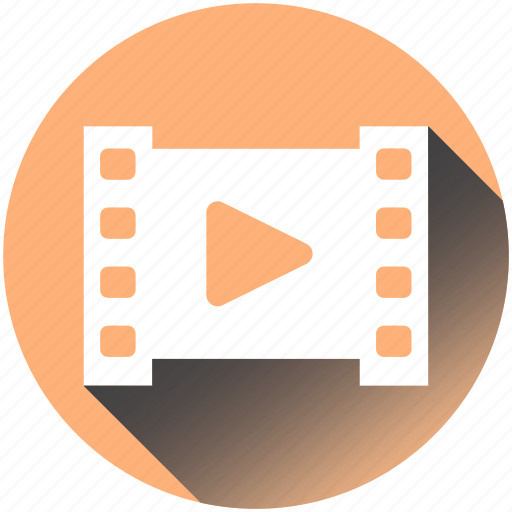 cinematography, film, media, movie, play, retro, television icon