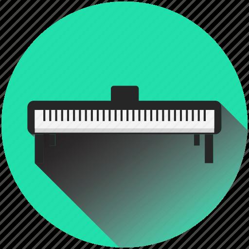 blackandwhite, keyboard, music, piano, play, retro, television icon