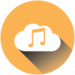cloud, media, music, musickey, play, retro, television icon