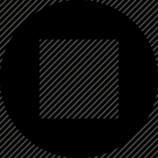 audio, media, multimedia, music, stop, video icon