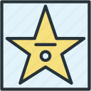 multimeda, print, rock, star icon
