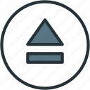 eject, load, multimeda icon