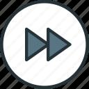 fast, forward, multimeda icon