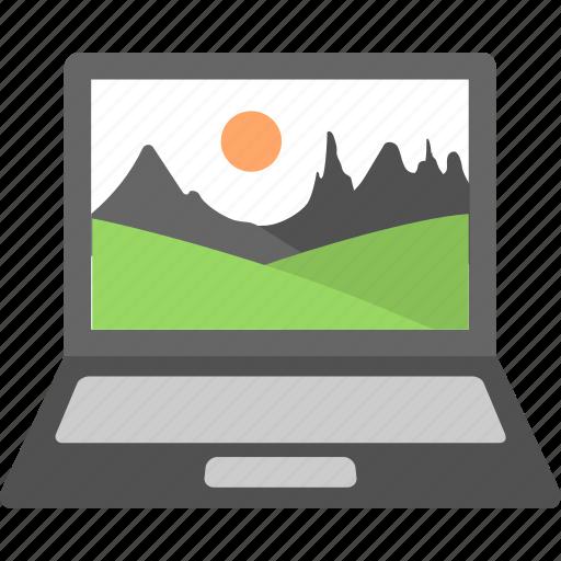 background, image, landscape, laptop, wallpaper icon